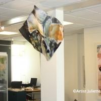"""Elegant Aluminium sculpture 'FLUID"""""""