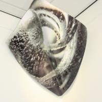 Elegant Aluminium sculpture 'FROZEN'