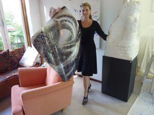 Juliette van Bavel, atelier, foto Leo van der Velde
